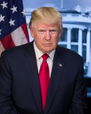 Donald Trump, 45th President of the United States Image from wikimedia.org