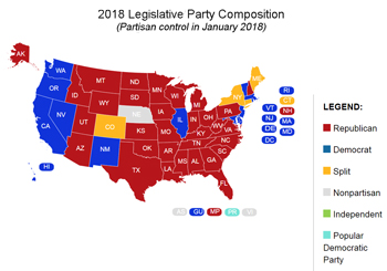 2018-Map-State-Legislatures-National-Confrence-of-State-Legislatures
